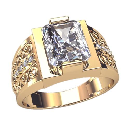 Перстень мужской из золота с. Кольца и перстни для мужчин