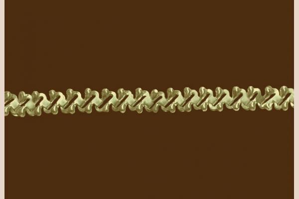 Цепь из золота: плетение Анталия просечное