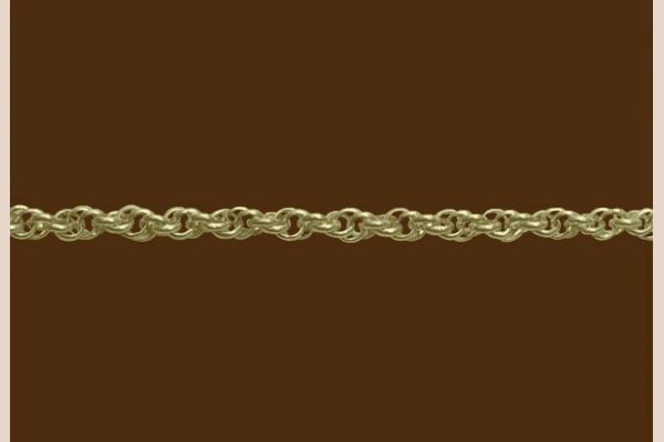 Цепь из золота: плетение Французское крученое