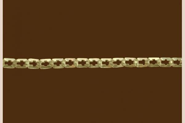 Цепь из золота: плетение Крест просечное