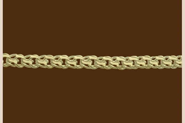 Цепь из золота: плетение Москвич