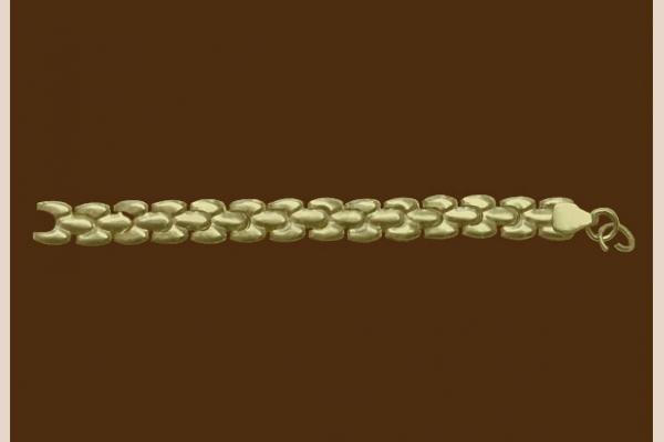 Цепь из золота: плетение Жук просечное